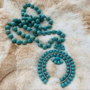 Half Squash Blossom Pendant necklace